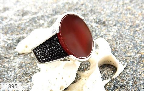انگشتر عقیق قرمز کلاسیک مردانه - عکس 5
