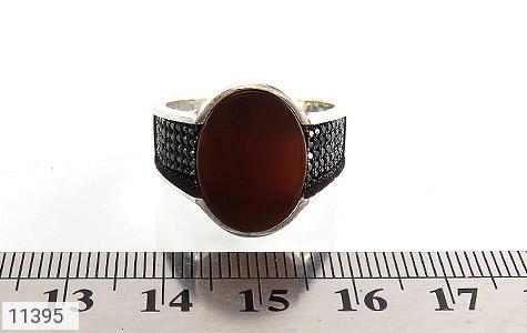 انگشتر عقیق قرمز کلاسیک مردانه - تصویر 6