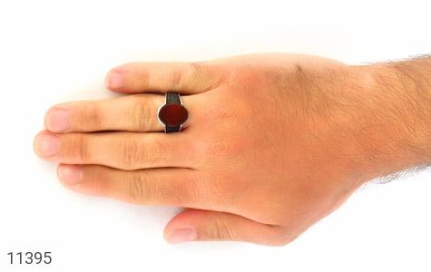 انگشتر عقیق قرمز کلاسیک مردانه - عکس 7