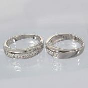 حلقه ازدواج نقره پرنگین