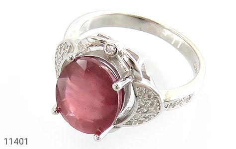 انگشتر یاقوت سرخ خوش رنگ زنانه - عکس 1