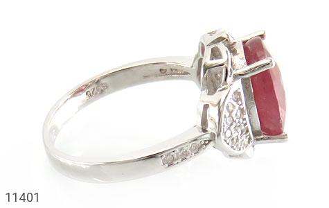 انگشتر یاقوت سرخ خوش رنگ زنانه - عکس 3