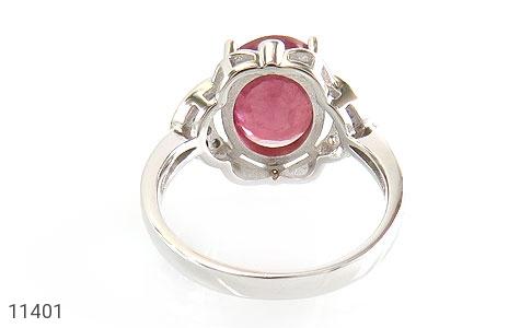 انگشتر یاقوت سرخ خوش رنگ زنانه - تصویر 4