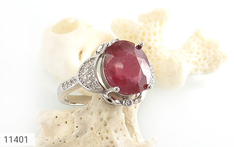 انگشتر یاقوت سرخ خوش رنگ زنانه - عکس 5