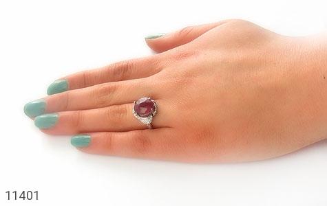 انگشتر یاقوت سرخ خوش رنگ زنانه - عکس 7