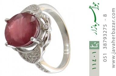 انگشتر یاقوت سرخ خوش رنگ زنانه - کد 11401