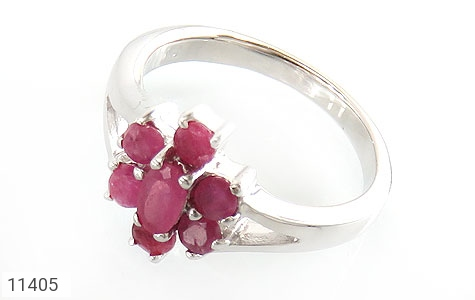 انگشتر یاقوت سرخ طرح نارگل زنانه - عکس 1