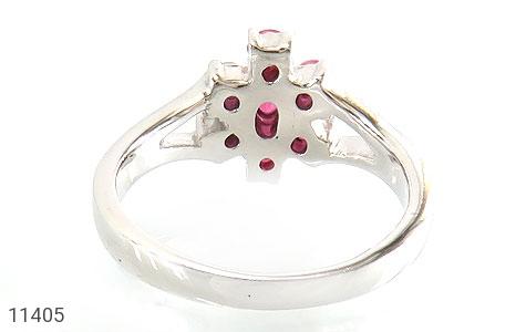 انگشتر یاقوت سرخ طرح نارگل زنانه - تصویر 4