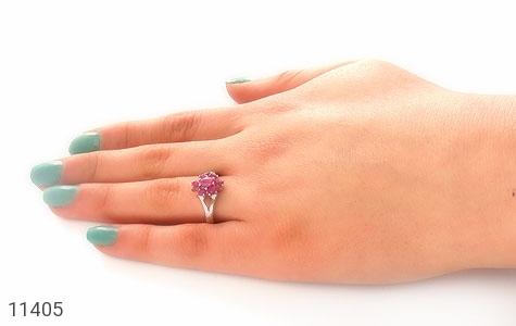 انگشتر یاقوت سرخ طرح نارگل زنانه - عکس 7