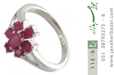انگشتر یاقوت سرخ طرح نارگل زنانه - کد 11405