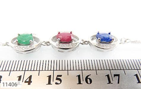 دستبند زمرد و یاقوت مجلسی و شیک زنانه - تصویر 4