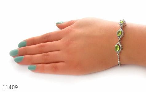 دستبند زبرجد طرح ساغر زنانه - عکس 5