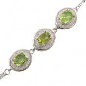 دستبند زبرجد طرح حلما زنانه