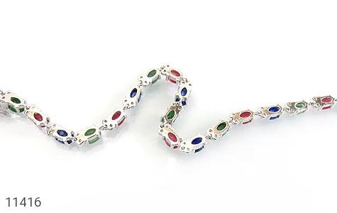 دستبند یاقوت و زمرد پرنگین و فاخر زنانه - تصویر 2