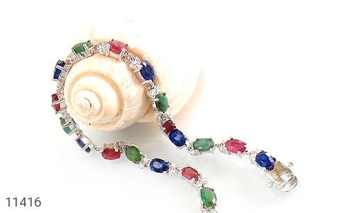 دستبند یاقوت و زمرد پرنگین و فاخر زنانه - عکس 3