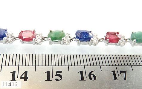 دستبند یاقوت و زمرد پرنگین و فاخر زنانه - تصویر 4