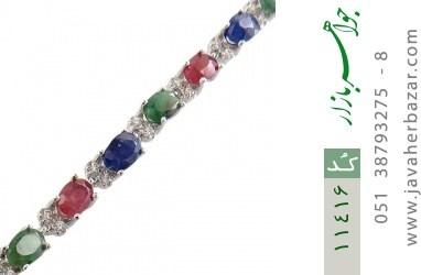 دستبند یاقوت و زمرد پرنگین و فاخر زنانه - کد 11416