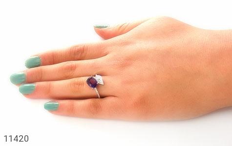 انگشتر آمتیست درخشان طرح گیلدا زنانه - عکس 7