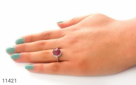 انگشتر یاقوت سرخ طرح آدرینا زنانه - عکس 7