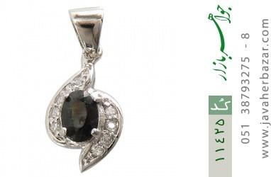 مدال یاقوت کبود طرح گلرخ زنانه - کد 11425