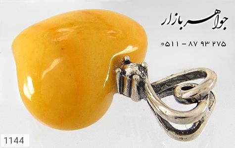 مدال کهربا بولونی لهستان طرح قلب - تصویر 2