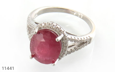 انگشتر یاقوت سرخ طرح بهناز زنانه - عکس 1