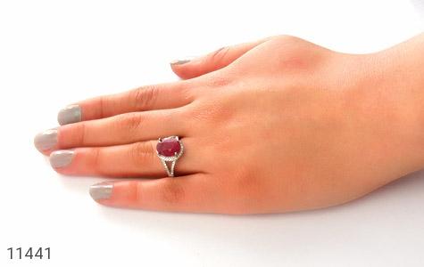 انگشتر یاقوت سرخ طرح بهناز زنانه - عکس 7
