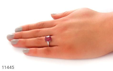 انگشتر یاقوت سرخ طرح طناز زنانه - عکس 7