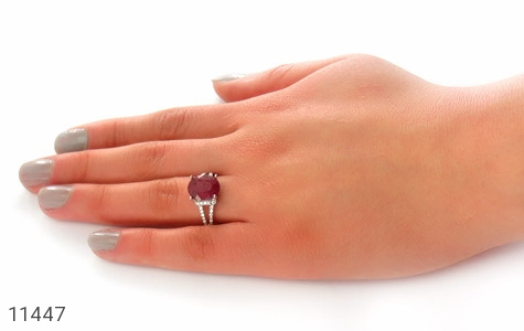 انگشتر یاقوت سرخ طرح گلناز زنانه - عکس 7