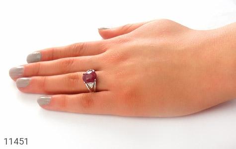 انگشتر یاقوت سرخ طرح رونیکا زنانه - عکس 7