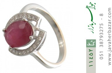 انگشتر یاقوت سرخ طرح دیانا زنانه - کد 11452