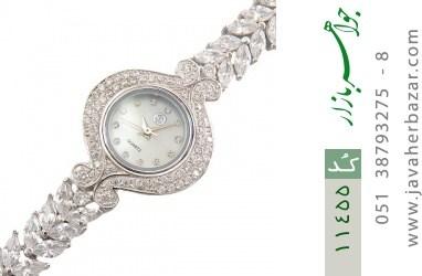 ساعت نقره آب رودیوم طرح مجلسی زنانه - کد 11455