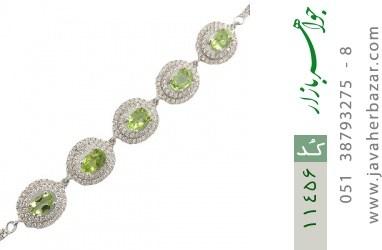 دستبند زبرجد مجلسی و لوکس زنانه - کد 11456