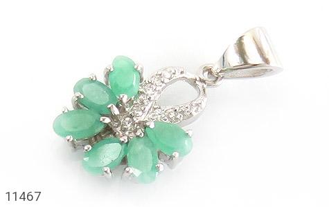 مدال زمرد گل زیبای زنانه - عکس 1