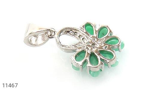 مدال زمرد گل زیبای زنانه - تصویر 2