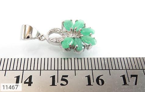 مدال زمرد گل زیبای زنانه - تصویر 4