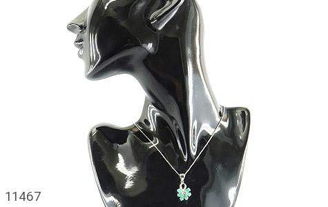 مدال زمرد گل زیبای زنانه - تصویر 6