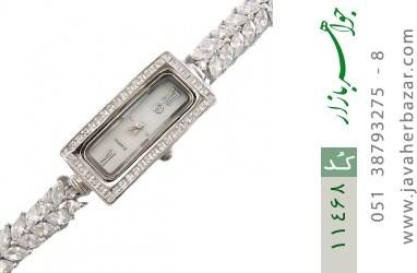 ساعت نقره آب رودیوم طرح باشکوه و مجلسی زنانه - کد 11468