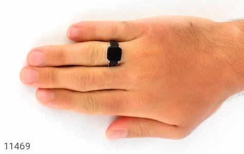 انگشتر عقیق سیاه ترک و جذاب مردانه - عکس 7