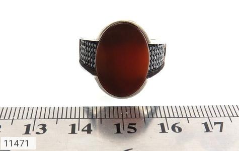 انگشتر عقیق قرمز میکروستینگ مردانه - تصویر 6