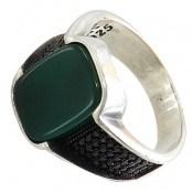 انگشتر عقیق سبز کلاسیک مردانه