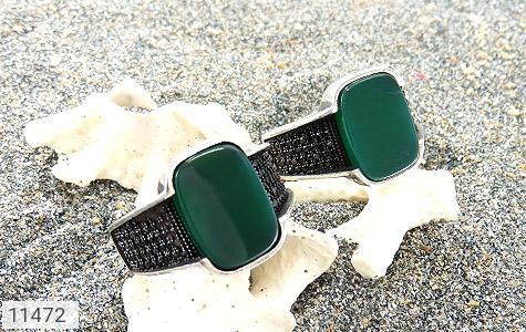 انگشتر عقیق سبز کلاسیک مردانه - عکس 5