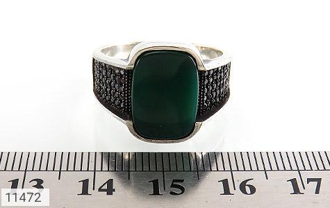 انگشتر عقیق سبز کلاسیک مردانه - تصویر 6
