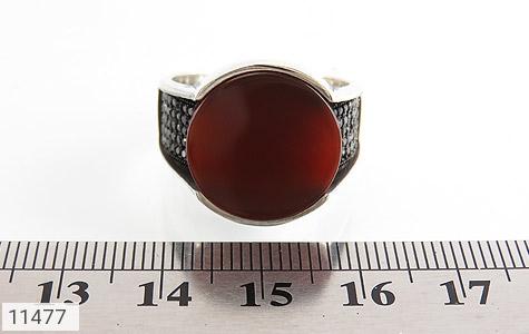 انگشتر عقیق قرمز درشت مردانه - تصویر 6