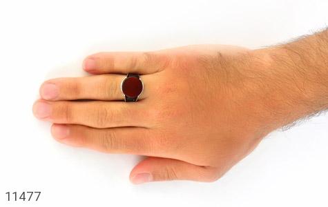 انگشتر عقیق قرمز درشت مردانه - عکس 7