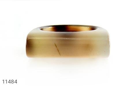 انگشتر عقیق حلقه سنگی تراش خاص زنانه - عکس 1