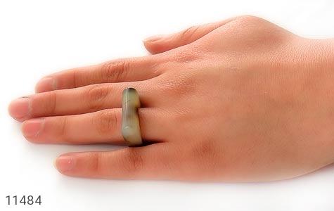 انگشتر عقیق حلقه سنگی تراش خاص زنانه - تصویر 6