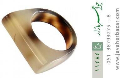 انگشتر عقیق حلقه سنگی تراش خاص زنانه - کد 11484
