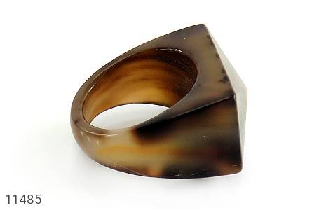 انگشتر عقیق حلقه سنگی تراش زنانه - تصویر 2