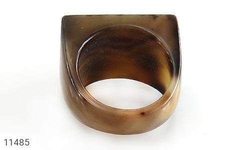 انگشتر عقیق حلقه سنگی تراش زنانه - عکس 3